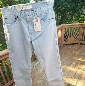 NWT 511 Slim Levi's Jeans  Boys size 14